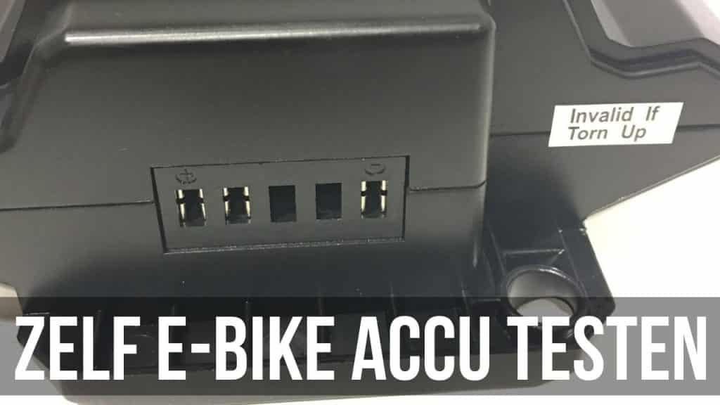 Zelf E-Bike accu testen