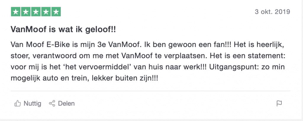 Positieve Review VanMoof