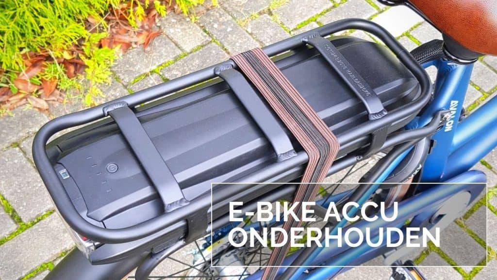 E Bike accu onderhouden