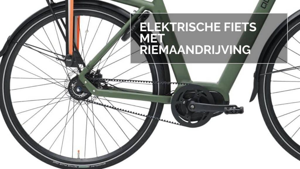 Elektrische fiets met riemaandrijving