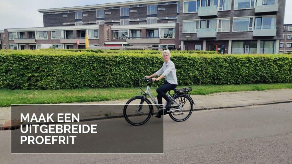 Elektrische fiets kopen tips Proefrit maken