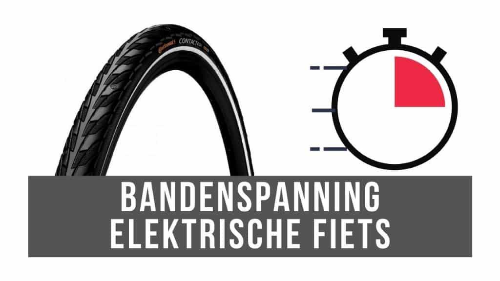 Bandenspanning elektrische fiets