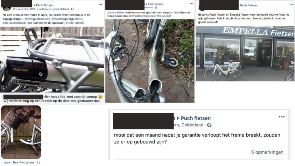 Gebroken frame puch fiets