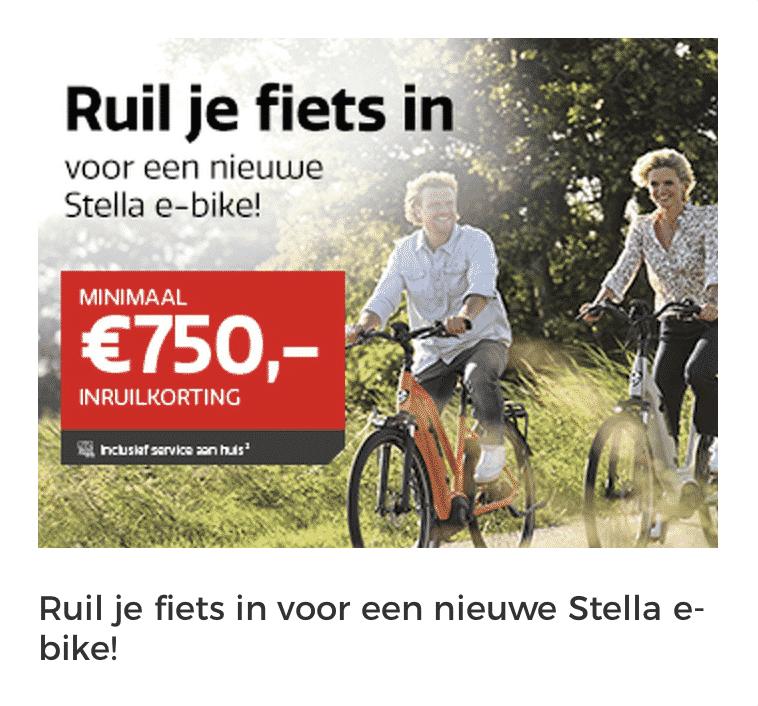 Inruil korting stella fietsen