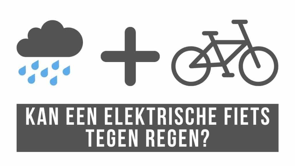 Kan een elektrische fiets tegen regen
