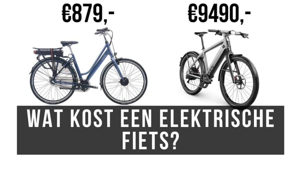 Wat kost een elektrische fiets?