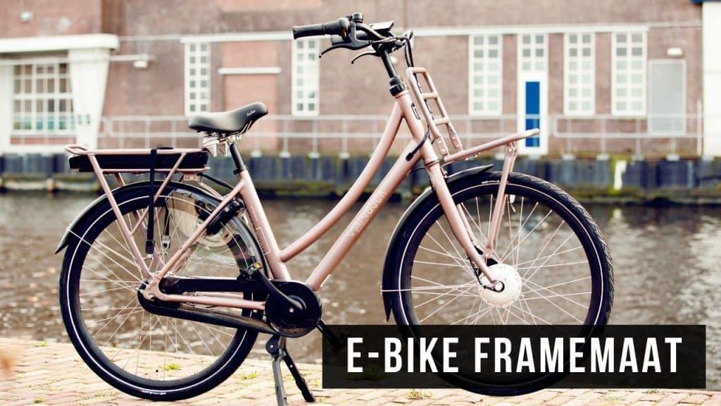 E-Bike framemaat bepalen