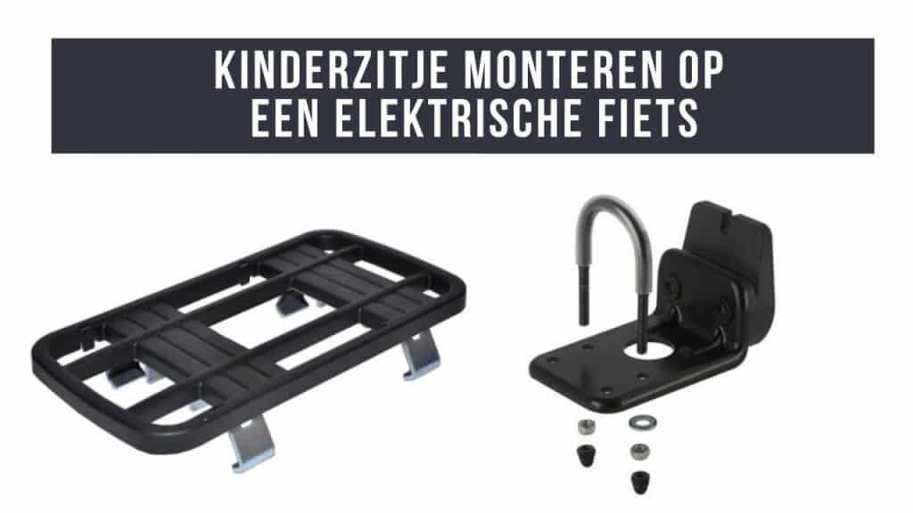 Kinderzitje op een elektrische fiets monteren